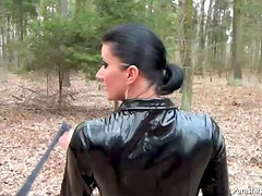 Fetish Freak Piss Dominated and Fucked In The Woods In POV Vid