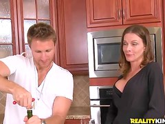 Mind Blowing Milf Gets Her Ass Tapped On Her Kitchen Counter