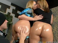 Anal Threesome In The Bank With Flower Tucci and Nicole Banks