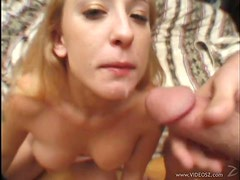Blonde Serena Marcus Sucking Cock To Swallow Cum