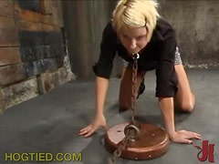 Chained and Abused Blonde Beauty Won't Forget This BDSM Session