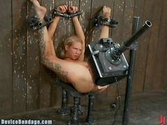 Fascinating Blonde Reaches Many Orgasms With The Help Of Toys In BDSM Clip