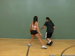 Capri Cavanni Gets Pounded In the Middle OF A Basketball Court