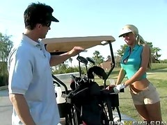 Busty Golf Player Gets Pounded On The Grassy Meadows