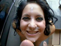 POV Facial Cumshot For Brunette Lina Paige After Fucking Her In The Car