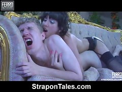 Madeleine and Connor in a Hot Strapon Movie