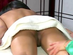 Lesbian asian masseuse gets nasty