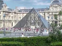 Hot public sex at the Louvre museum in Paris Part 1 VERY COOL