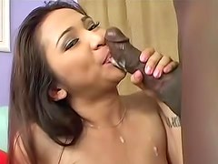 Bewitching Scarlett Ventura is having interracial sex indoor