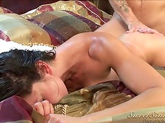 Capri awesome brunette woman toying pussy with a bottle of wine