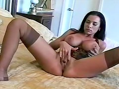 Watch her get dressed in hot lingerie set