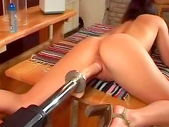 Titty pain play and dildo machine sex