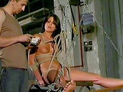 He puts her through incredible BDSM pain