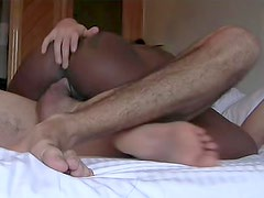 He films homemade sex with black babe