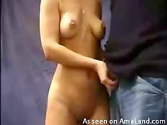 Horny Blonde Gives her Boyfriend One Hell Of A Blowjob