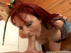 Redhead MILF Kylie Ireland Judging If His Dick Is Worthy of Her Daughter