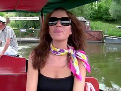 Naughty Girlfriend Gives Amazing Blowjob Outdoors