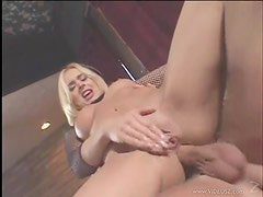 Anal Creampie For The Blonde In Fishnet Kelly Wells