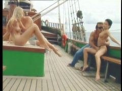 Double Penetration In FFFMM Moresome On a Boat With Three Hot Babes On