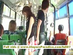 Mihiro Chinese model enjoys a fucking on the bus
