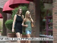 Lovely Amateur sexy lesbian girls outdoor