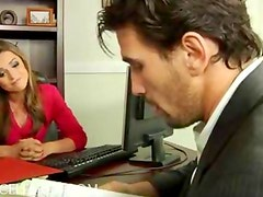 Office hottie Tori Black boned in stockings office hardcore