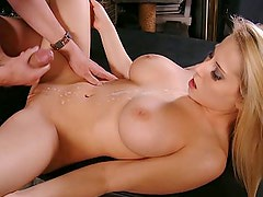 Big-tittied blonde horny boss Madison