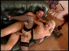 FFFM Hardcore Action With a Big Cock and a Strapon Dildo