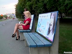 Killer POV Blowjob and Titty Fuck In Public By a Sexy Blonde