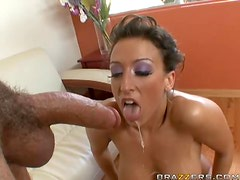 Ricki White Wants No Tan Lines So She Shakes Her Big Ass On a Big Dick