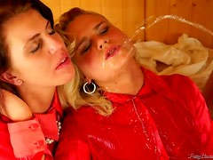 Messy Golden Shower Threesome With The Sexy Babes Gina Killmer And Mischelle