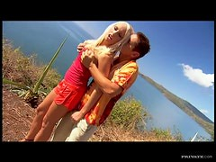 Sexy Blonde Diana Gold Gets Double Penetrated In A Threesome Outdoors