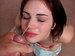 Shy Faith gets her facial portion