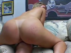 Bastard with big boner is licking her attractive and wet kitty
