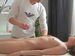 Princess with long hair is having deep fuck after massage