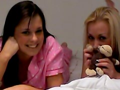 Pillow fighting and playful stripping
