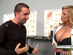 Blonde Doctor Shyla Stylez Uses Her Big Tits To Scratch an Itch