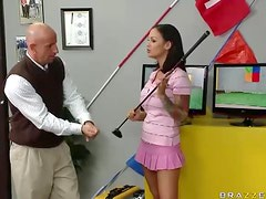 Big Breasted Golf Instructor Angelina Valentine Fucking Her Apprentice