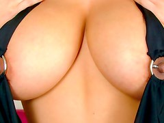 Huge boobs in deep decolette