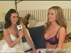 Big tits chicks interview in bed