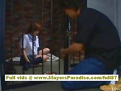 Azusa Itagaki Naughty Asian model sucks cock and swallows cum