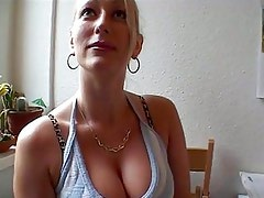 Gorgous blonde russian babe being seduced and fucked hard