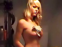 Blonde has gorgeous natural tits