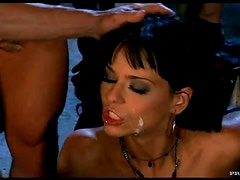 Anal - Slutty Brunette Simony Diamond Gets Double Penetrated In Gangbang