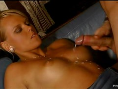 Slutty Blonde With Natural Tits Gives A Blowjob Inside A Boat