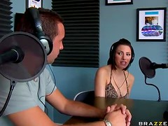 Outrageously Brunette Gets Fucked By A Dj With A Really Big Cock