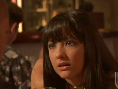 Brunette Carmen Hart Giving Her Compliments To The Chef With a Blowjob