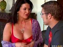 Sexy Brunette Milf Takes On A Celibate Cock