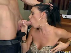 Busty Brunette Gets Reammed Hard And Covered In Jizz