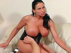 Milf with massive knockers sits on his face